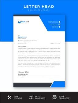 Designvorlage für professionelles business-unternehmensbriefkopf
