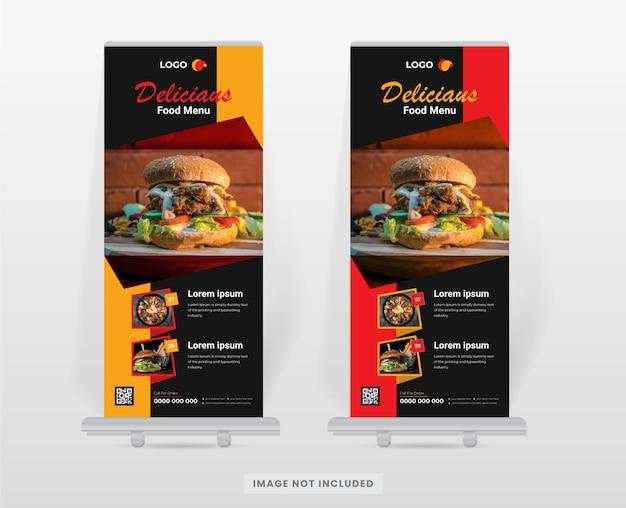 Designvorlage für rollup-banner für lebensmittel und restaurants