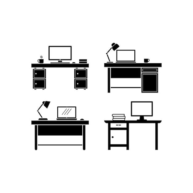 Designvorlage für schreibtischsymbole
