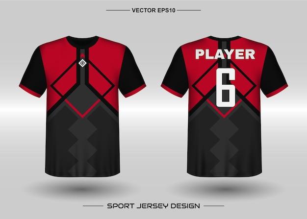 Designvorlage für sporttrikots für fußballmannschaft