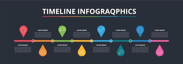 Designvorlage für timeline-infografiken