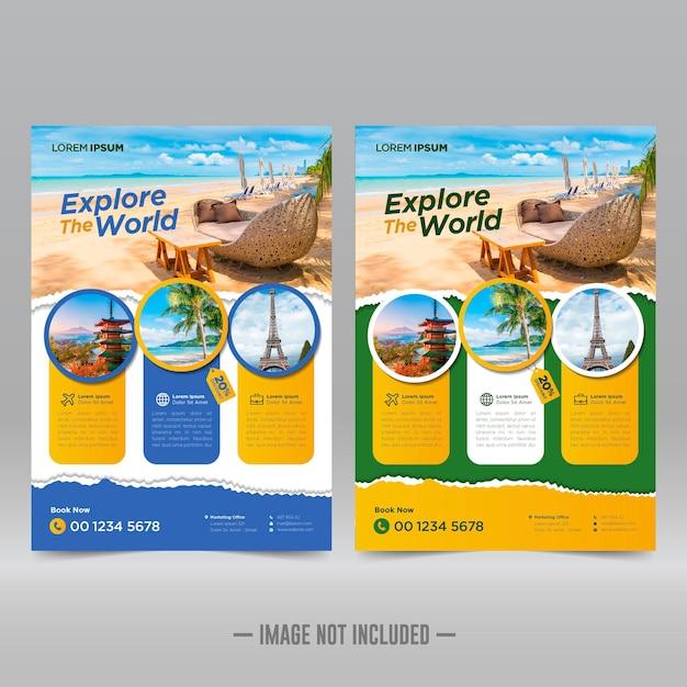 Designvorlage für tour- und reiseflyer