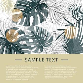 Designvorlage für tropische pflanzen.