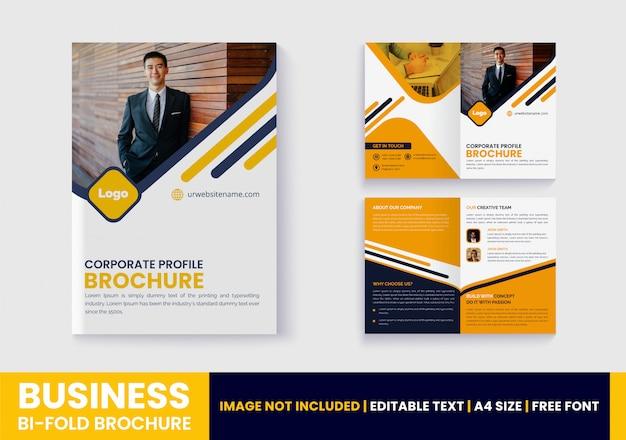 Designvorlage für unternehmens-bifold-broschüren