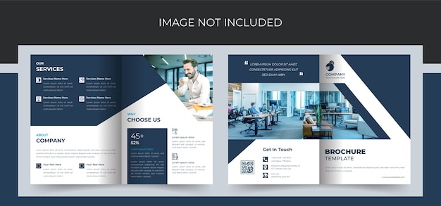 Designvorlage für unternehmensbroschüren im a4-format.