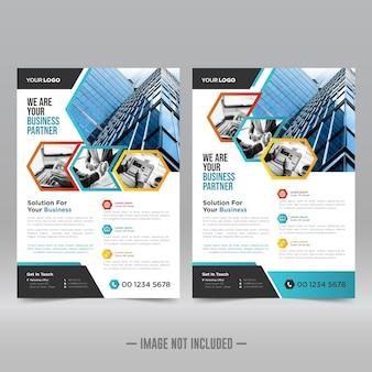 Designvorlage für unternehmensplakate Premium Vektoren
