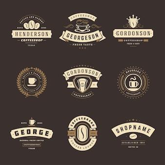 Designvorlagen für coffeeshop-logos