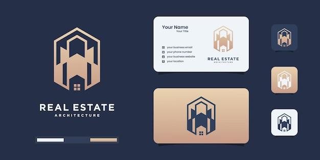Designvorlagen für luxusimmobilien-logos.