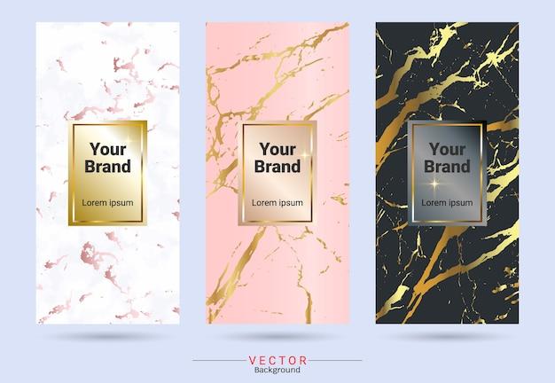 Designvorlagen für verpackungen und etiketten