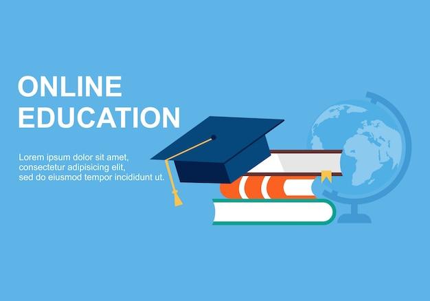 Designvorlagen für webseiten für online-schulungen