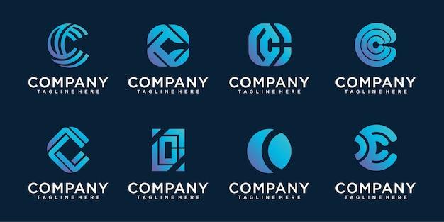 Designvorlagenelemente des buchstaben c-logo-symbols