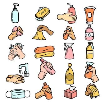 Desinfektion händetrocknen und hygiene desinfektionsspray waschen seifengel und desinfektionsmittel