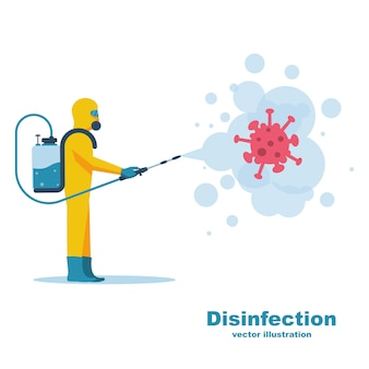 Desinfektionskonzept.coronavirus covid-19.
