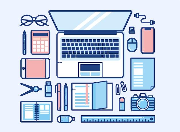 Desktop-design für den arbeitsbereich