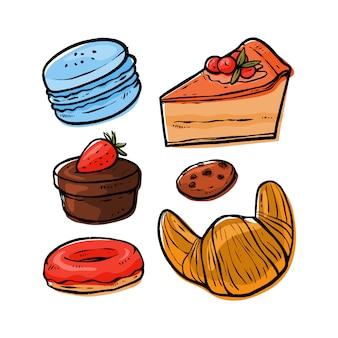 Dessert illustrationspaket