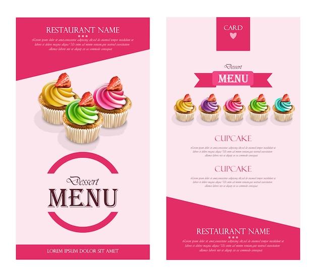 Dessert-menü-cupcakes