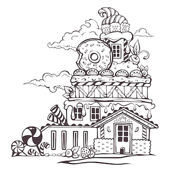 Dessert thematische illustration