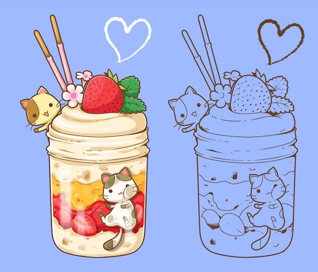Dessert und katze