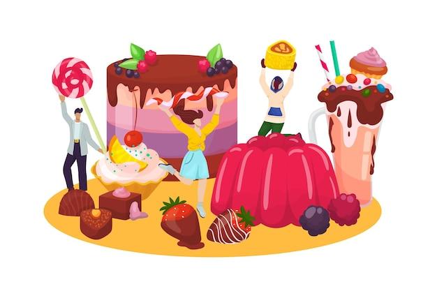 Dessertgebäck mit personencharakter