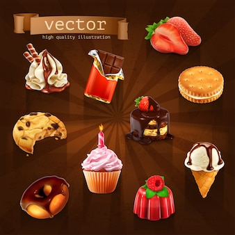 Desserts 3d set