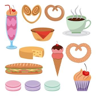 Desserts gesetzt