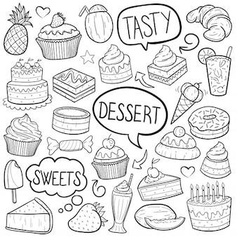 Desserts und süßigkeiten essen