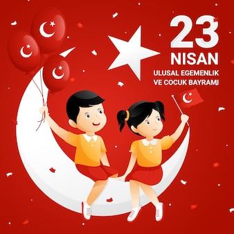 Detaillierte 23 nisan illustration