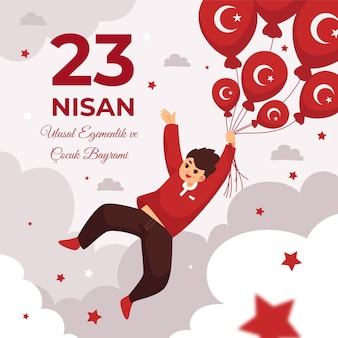 Detaillierte 23 nisan illustration
