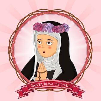 Detaillierte abbildung von santa rosa de lima