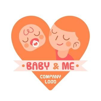 Detaillierte baby-logo-vorlage