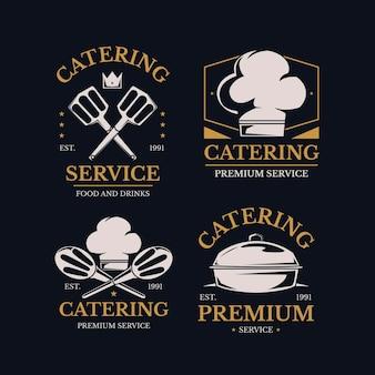 Detaillierte catering-logo-kollektion Kostenlosen Vektoren