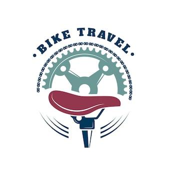 Detaillierte fahrrad logo hand gezeichnet
