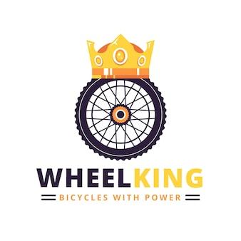 Detaillierte fahrrad logo vorlage wheelking