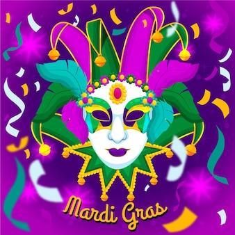 Detaillierte flache karneval