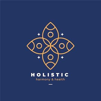 Detaillierte ganzheitliche logo-vorlage