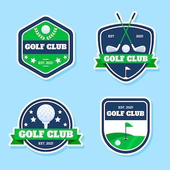 Detaillierte golf-logo-sammlung