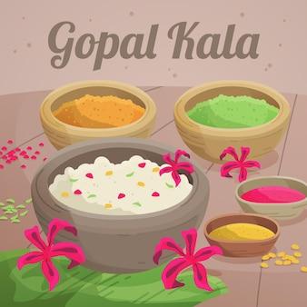 Detaillierte gopalkala-abbildung