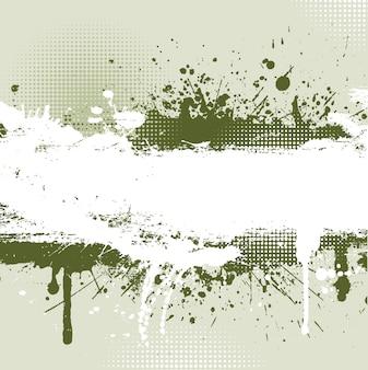 Detaillierte grunge hintergrund mit splats und tropfen