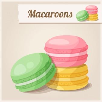 Detaillierte ikone. makronen