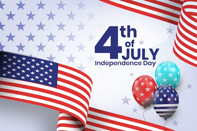 Detaillierte illustration zum 4. juli - unabhängigkeitstag