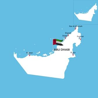 Detaillierte karte der vereinigten arabischen emirate