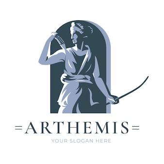 Detaillierte logo-vorlage für die göttin