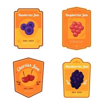 Detaillierte marmeladenabzeichen-sammlung