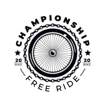 Detaillierte mechanismus fahrrad logo vorlage