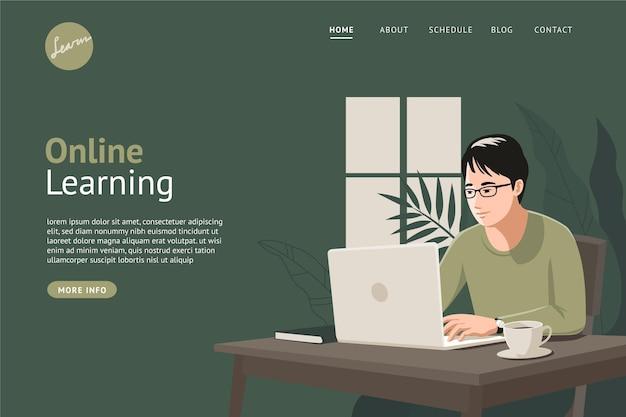 Detaillierte online-lern-landingpage