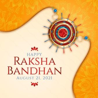 Detaillierte raksha-bandhan-illustration