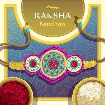 Detaillierte raksha-bandhan-illustration Kostenlosen Vektoren