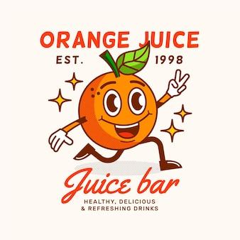 Detaillierte retro cartoon restaurant logo vorlage