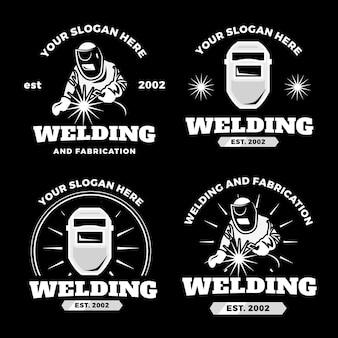 Detaillierte schweißer-logo-vorlage