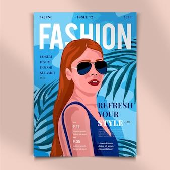 Detaillierte titelseite des magazins abgebildet